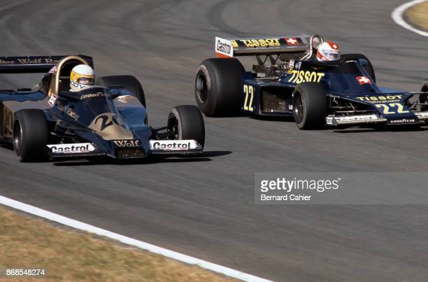 Jody Scheckter Clay Regazzoni WolfFord WR3 EnsignFord N177 Grand Prix of Japan Fuji Speedway 23 October 1977