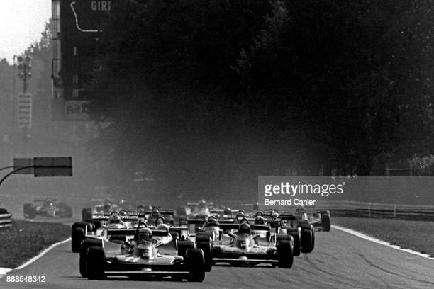 Jody Scheckter Gilles Villeneuve Ferrari 312T4 Grand Prix of Italy Autodromo Nazionale Monza 09 September 1979 Jody Scheckter and Ferrari teammate...