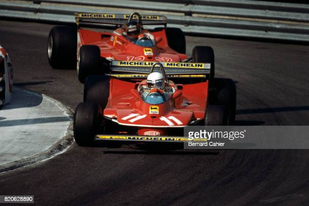 Jody Scheckter Gilles Villeneuve Ferrari 312T4 Grand Prix of Monaco Monaco 27 May 1979
