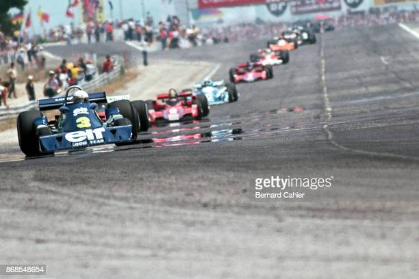Jody Scheckter TyrrellFord P34 Grand Prix of France Circuit Paul Ricard 04 July 1976 Jody Scheckter and his sixwheel TyrrellFord P34 in the lead at...