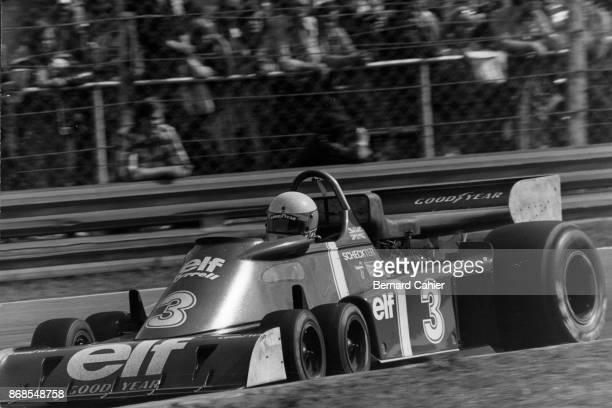 Jody Scheckter TyrrellFord P34 Grand Prix of Sweden Anderstorp Raceway 13 June 1976 Jody Scheckter at the wheel of the sixwheel Tyrell P34
