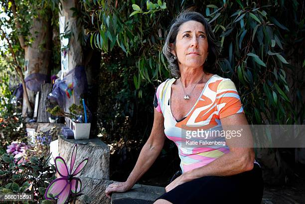 Jody Siegler is photographed at the memorial set up for her daughter Julia who was killed two years ago in a horrific accident on Sunset Boulevard...