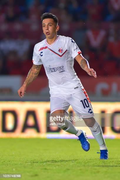 Joe Abrigo of Veracruz during the 7th round match between Veracruz and Tijuana as part of the Torneo Apertura 2018 Liga MX at Luis 'Pirata' de la...