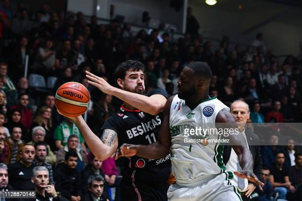 Joe Alexander of Besiktas during the Champions League Basketball match between Nanterre 92 and Besiktas JK at Palais des Sports Maurice Thorez on...