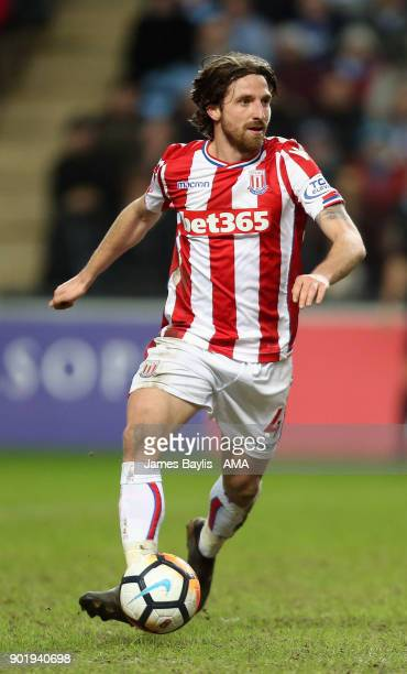 Joe Allen of Stoke City during The Emirates FA Cup Third match between Coventry City and Stoke City at Ricoh Arena on January 6 2018 in Coventry...