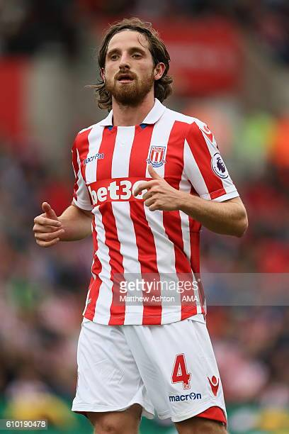 Joe Allen of Stoke City during the Premier League match between Stoke City and West Bromwich Albion at Bet365 Stadium on September 24 2016 in Stoke...