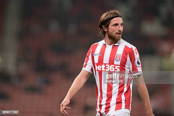 Joe Allen of Stoke looks on during the EFL Cup Third Round match between Stoke City and Hull City at the Bet365 Stadium on September 21 2016 in Stoke...