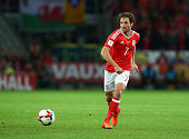 joe allen wales during fifa world