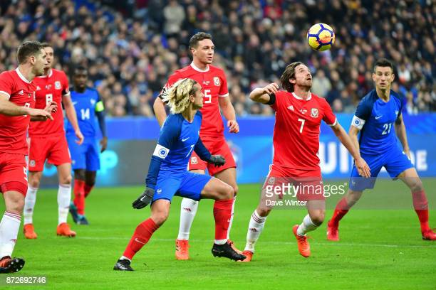 Joe Allen of Wales during the international friendly match between France and Wales at Stade de France on November 10 2017 in Paris France