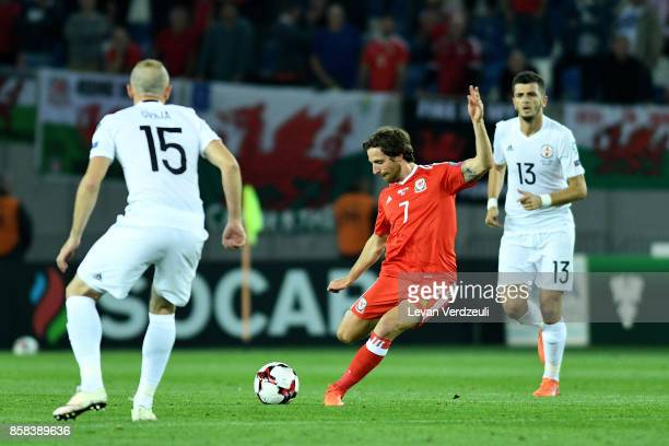 Joe Allen of Wales in action during the FIFA 2018 World Cup Qualifier between Georgia and Wales at Boris Paichadze Dinamo Arena Tbilisi Georgia on...