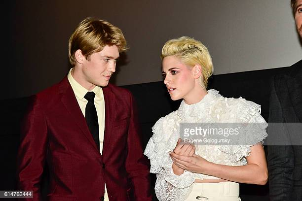 Joe Alwyn and Kristen Stewart attend the RealD Sponsors World Premiere of Billy Lynn's Long Halftime Walk at AMC Loews Lincoln Square on October 14...