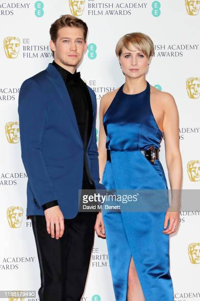 Joe Alwyn and Niamh Algar pose in the Winners Room at the EE British Academy Film Awards 2020 at Royal Albert Hall on February 2 2020 in London...