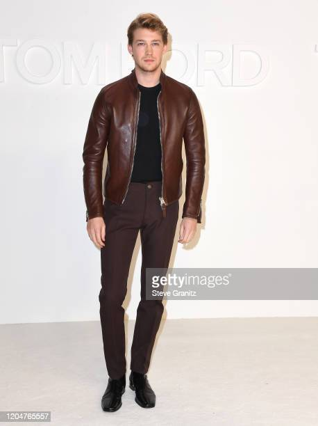 Joe Alwyn arrives at the Tom Ford AW20 Show at Milk Studios on February 07, 2020 in Hollywood, California.