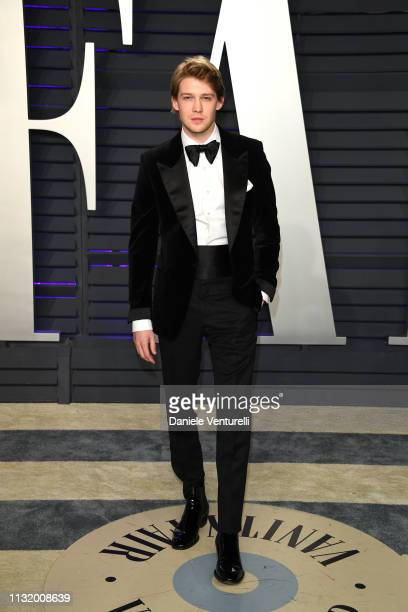Joe Alwyn attends 2019 Vanity Fair Oscar Party Hosted By Radhika Jones at Wallis Annenberg Center for the Performing Arts on February 24 2019 in...