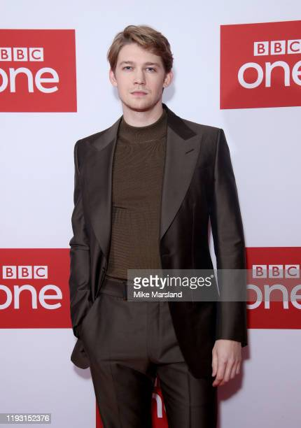 "Joe Alwyn attends ""A Christmas Carol"" screening at Picturehouse Central on December 10, 2019 in London, England."