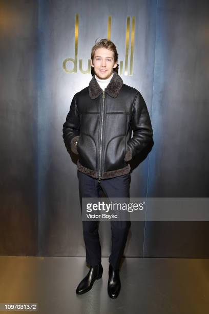 Joe Alwyn attends the Dunhill London Menswear Fall/Winter 20192020 show as part of Paris Fashion Week on January 20 2019 in Paris France