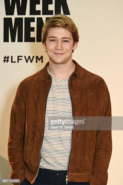 Joe Alwyn attends the Oliver Spencer AW17 Catwalk Show during London Fashion Week Men's January 2017 at the BFC Show Space on January 7 2017 in...