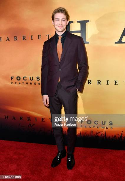 Joe Alwyn attends the premiere of Focus Features' Harriet at The Orpheum Theatre on October 29 2019 in Los Angeles California