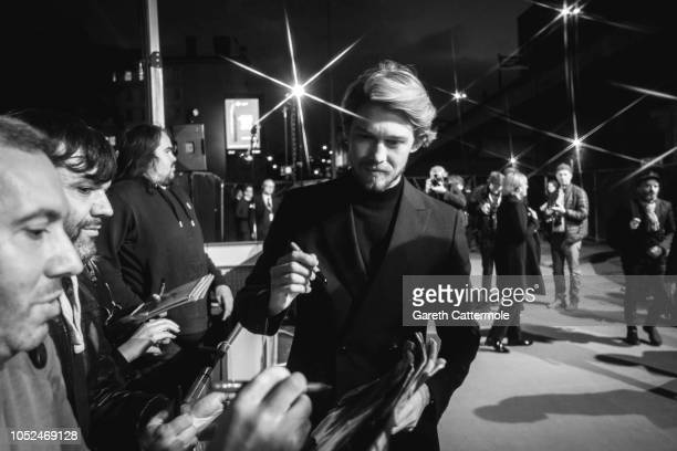 Joe Alwyn attends the UK Premiere of 'The Favourite' American Express Gala at the 62nd BFI London Film Festival on October 18 2018 in London England