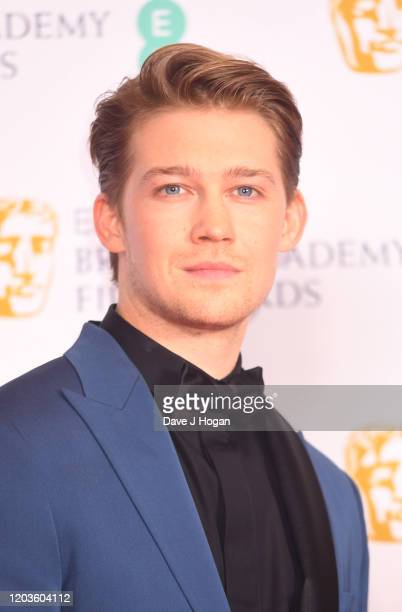 Joe Alwyn poses in the Winners Room during the EE British Academy Film Awards 2020 at Royal Albert Hall on February 02, 2020 in London, England.