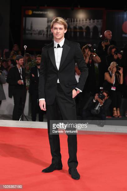 Joe Alwyn walks the red carpet ahead of the 'The Favourite' screening during the 75th Venice Film Festival at Sala Grande on August 30 2018 in Venice...