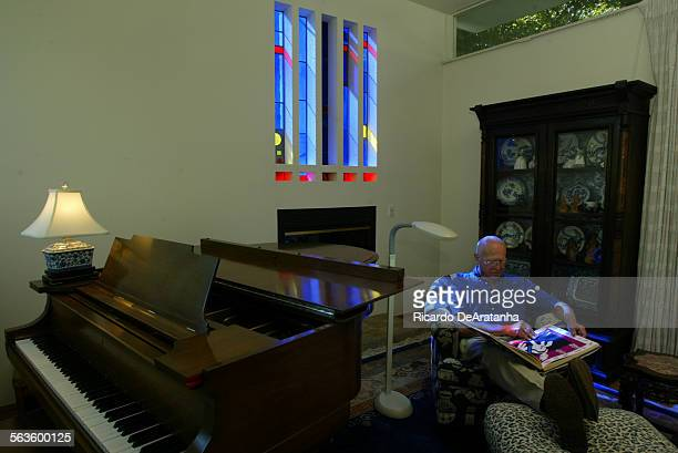 Joe and Alice Coulombe have three windows in their home created by Judson Studios which has been in LA for 106 years and has made stained glass for...