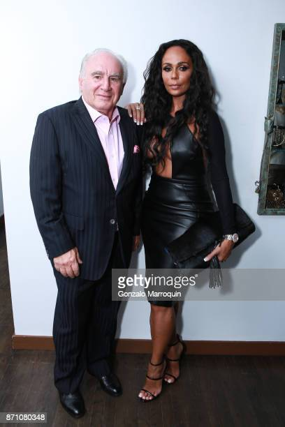 Joe and Alisa Maria Fronzaglia during the 'Hugh Hefner a Celebration of Life ' Memorial Cocktail Reception at Helen Yarmak Fashion House on November...