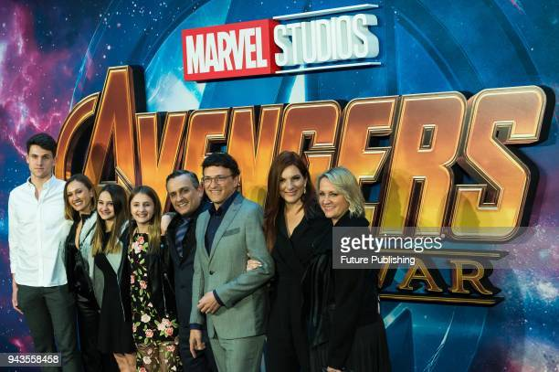 Joe and Anthony Russo arrive for 'Avengers Infinity War' UK fan event at Television Studios in White City in London April 08 2018 in London United...