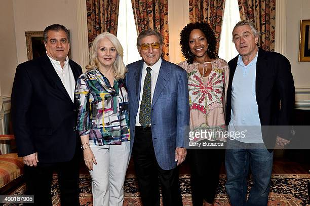 Joe and Cynthia Germanotta parents of Lady GagaTony Bennett Grace Hightower and Robert DeNiro attend a private reception at the Lotos Club on May...