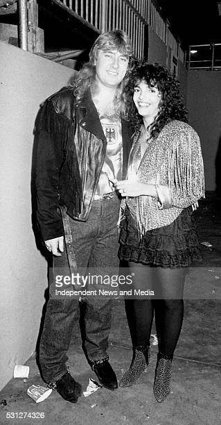 Joe and Karla Elliott at The Point for the U2 concert 26/12/89 for U2's 'Lovetown Tour' of 1989 BB King the legendary blues musician joined them on...