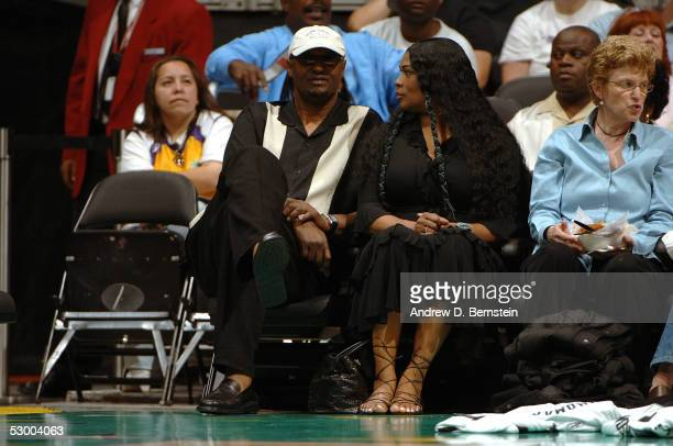 Joe and Pam Bryant, Kobe Bryant's parents, watch the Los Angeles Sparks play the San Antonio Silver Stars on May 31, 2005 at Staples Center in Los...