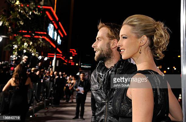 Joe Anderson and Elle Anderson attend Open Road Films' The Grey movie premiere at Regal Cinemas LA Live on January 11 2012 in Los Angeles California