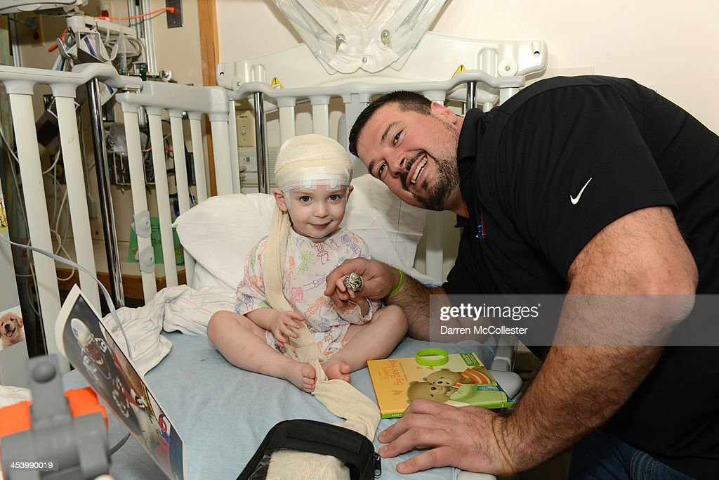 The Joe Andruzzi Foundation Visits Patients And Families At Boston Children's Hospital