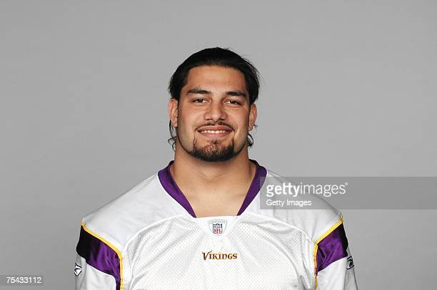 Joe Anoai of the Minnesota Vikings poses for his 2007 NFL headshot at photo day in Minneapolis Minnesota