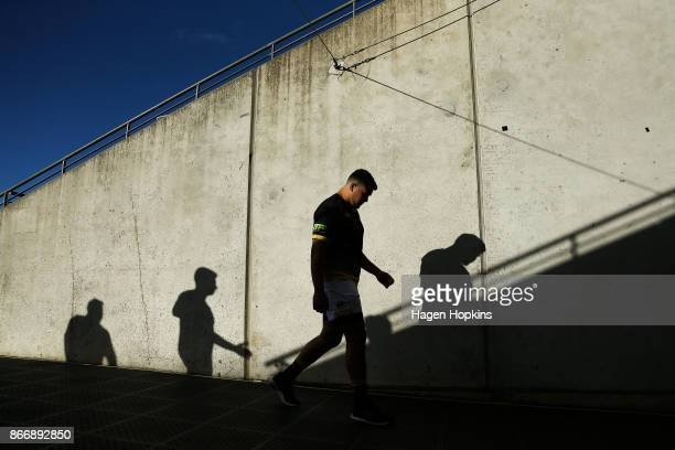 Joe Apikotoa of Wellington walks into the players tunnel during the Mitre 10 Cup Championship Final match between Wellington and Bay of Plenty at...