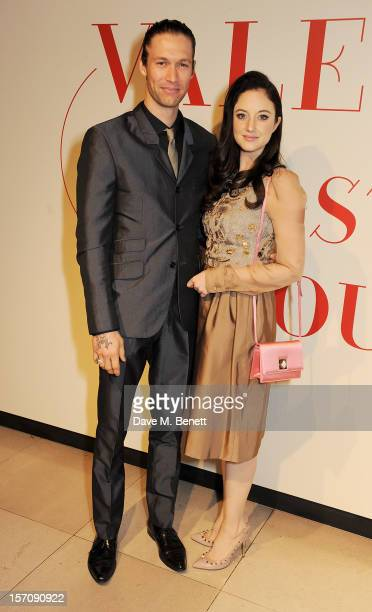 Joe Appel and Andrea Riseborough attend a private view of 'Valentino Master Of Couture' exhibiting from November 29th 2012 March 3 at Somerset House...