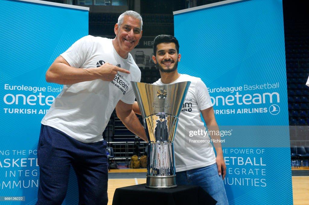 Joe Arlauckas, Euroleague Basketball Ambassador during the 2018 Turkish Airlines EuroLeague F4 One Team Welcome Session for Volunteers at Aleksandar Nikolic Hall on May 16, 2018 in Belgrade, Serbia.