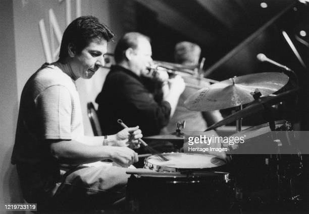 Joe Ascione, Nairn Jazz Festival, 2002. Artist Brian Foskett.