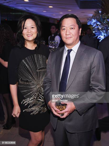 Joe Bae and guest attend the Winter Gala at Lincoln Center at Alice Tully Hall on February 13 2018 in New York City