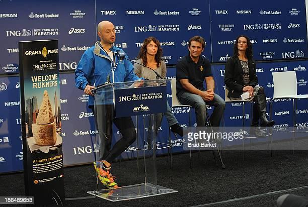 Joe Bastianich Elisabetta Serraiotto Alex Zanarad and Lauren Antonucci attend the Grana Padano Events NYC MArathon Events on October 31 2013 in New...