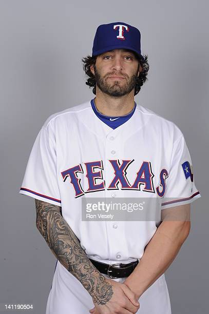 Joe Beimel of the Texas Rangers poses during Photo Day on Tuesday February 28 2012 at Surprise Stadium in Surprise Arizona