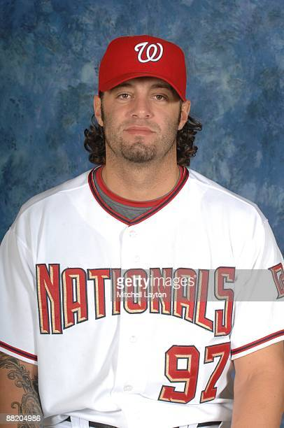 Joe Beimel of the Washington Nationals poses for a headshot before a baseball game against the Pittsburgh Pirates on May 20 2009 at Nationals Park in...