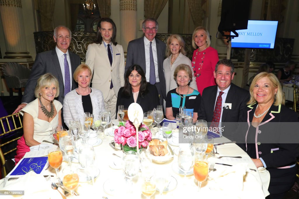 Joe Benincasa, Jordan Roth, Randy Guggenheimer, Daryl Roth, Janice Reals Ellig, Kay Koplovitz, Deborah Bussiere, Andrea Greenberg, Mary Farrell, Steve Guggenheimer, and Barbara Van Allen attend The 7th Annual Elly Awards at The Plaza Hotel on June 19, 2017 in New York City.