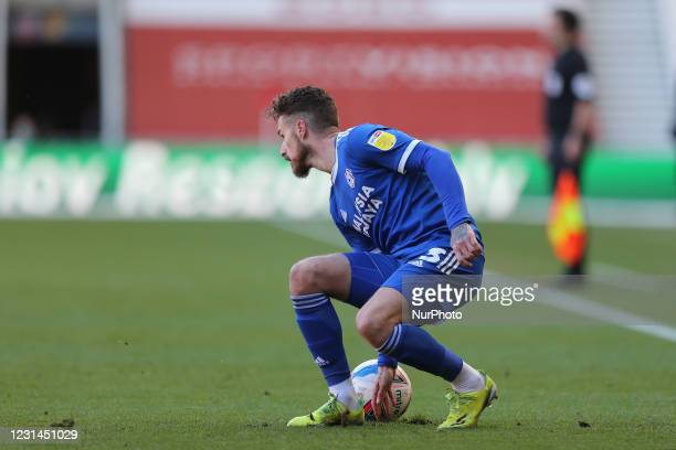 Joe Bennett of Cardiff City during the Sky Bet Championship match between Middlesbrough and Cardiff City at the Riverside Stadium, Middlesbrough on...