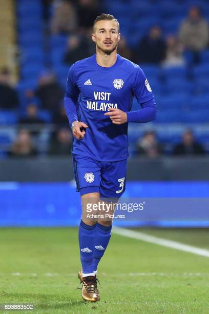 Joe Bennett of Cardiff City during the Sky Bet Championship match between Cardiff City and Hull City at the Cardiff City Stadium on December 16 2017...