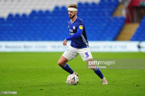 Joe Bennett of Cardiff City in action during the FA Cup third round match between Cardiff City and Carlisle United at the Cardiff City Stadium on...