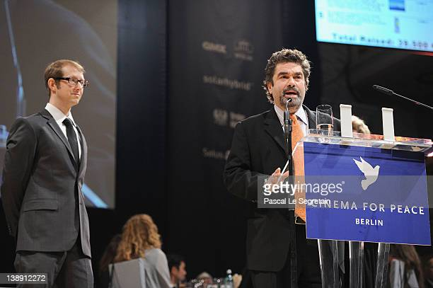 Joe Berlinger and Jason Baldwin attend the Cinema for Peace Gala at the Konzerthaus Am Gendarmenmarkt during day five of the 62nd Berlin...