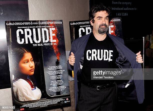 Joe Berlinger attends the New York premiere of Crude at the IFC Center on September 9 2009 in New York City