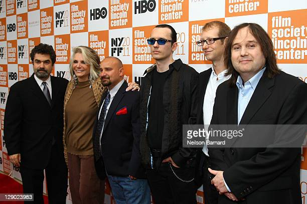 Joe Berlinger Sheila Nevins Jessie Misskelley Jr Damien Echols Jason Baldwin and Bruce Sinofsky attend the 49th annual New York Film Festival...