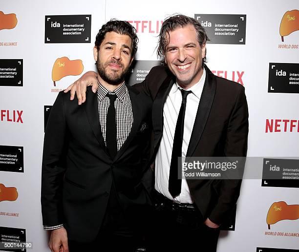 Joe Beshenkovsky and director Brett Morgen attend the 2015 IDA Awards at Paramount Studios on December 5 2015 in Hollywood California